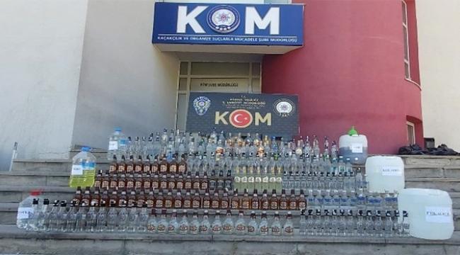 Adana'da 80 bin lira değerinde kaçak içki ele geçirildi