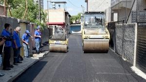 Seyhan'ın sokaklarında asfalt çalışması
