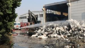 Tekstil fabrikasında korkutan yangın...