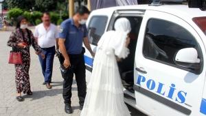 Zorla evlendirilmek istenen genç kızı polis kurtardı