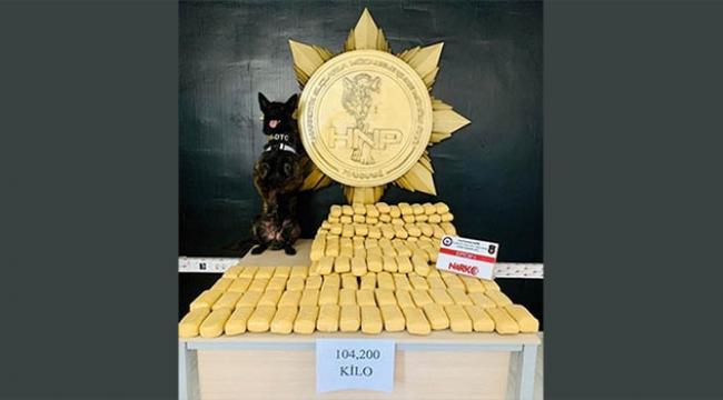 104 kilo 200 gram eroin ele geçirildi