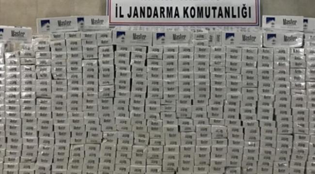 22 bin 440 paket kaçak sigara ele geçirildi