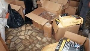 73 bin bandrolsüz 'makaron' ele geçirildi