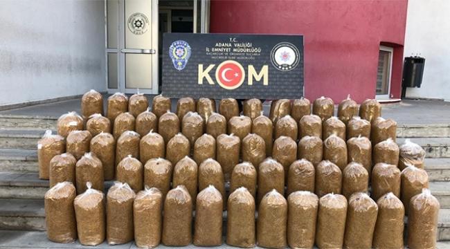 80 bin lira değerinde tütün ele geçirildi