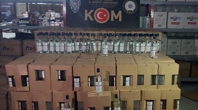 Adana'da 2 bin 140 litre kaçak alkol ele eçirildi