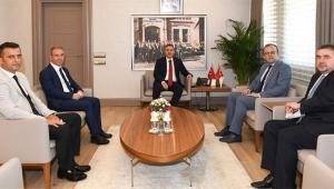 Basın İlan Kurumu Genel Müdürü Rıdvan Duran, Vali Elban'ı Ziyaret Etti