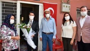 Başkan Mehmet Ay'dan şehit aileleri ile gazilere anlamlı ziyaret