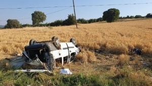Cenazeye giden araç kaza yaptı