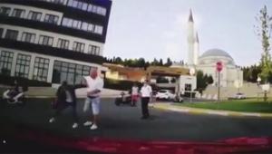 Sipariş götüren moto kuryeye saldırı