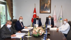 Vali Elban ve Vali Su ÇKA Yönetim Kurulu Toplantısı'na katıldı