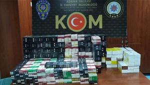 Adana'da 40 bin liralık kaçak sigara ele geçirildi