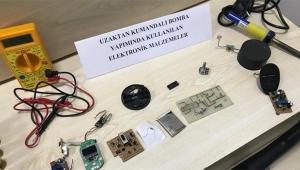 Adana'da el yapımı bomba, bomba malzemesi ve silah ele geçirildi