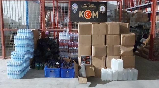 Adana'da kaçak içki operasyonu...
