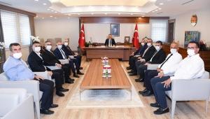 Adana Sanayi Odası Yönetimi, Vali Elban'ı Ziyaret Etti