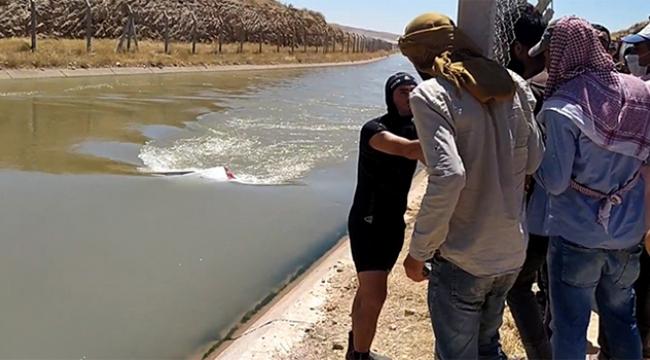 Araç sulama kanalına girdi