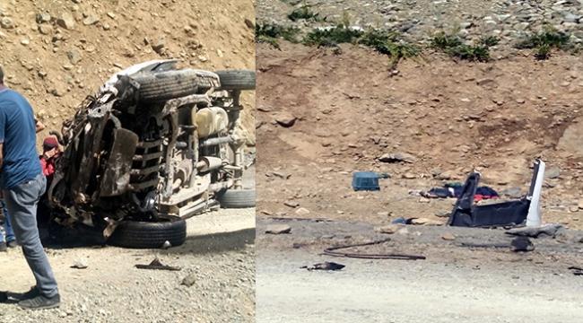 Araç uçuruma yuvarlandı 6 kişi hayatını kaybetti