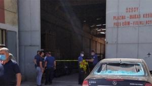 Demir doğrama fabrikasında patlama