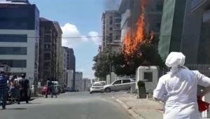 Elektrik kabloları yangına neden oldu