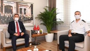 Jandarma Bölge Komutanı Tuğgenaral Yusuf Ziyaddin Cavlak'tan Vali Süleyman Elban'a Veda Ziyareti