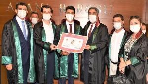 Adana Barosu'nda 7 avukat daha ruhsat aldı