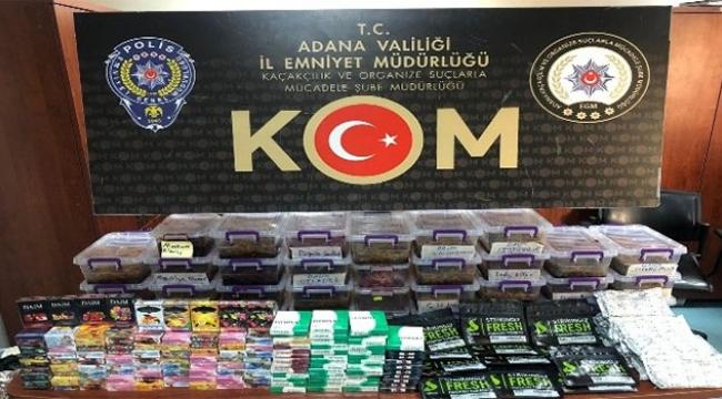 Adana'da binlerce liralık kaçak ürün ele geçirildi