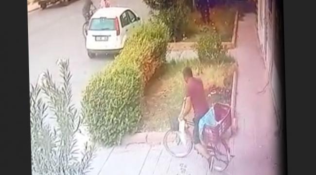Kilidi kesip bisikleti çaldı