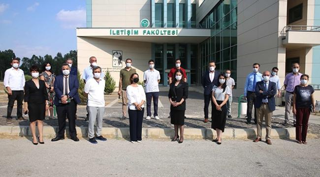 Rektör Prof. Dr. Tuncel İletişim Fakültesi'ni ziyaret etti
