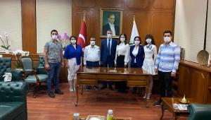 Talay ve yönetimi Prof Dr. Tuncel'e hayırlı olsun ziyaretinde bulundu