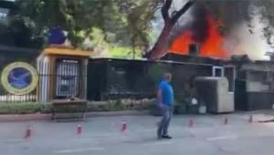 Üniversite yanında yangın paniği