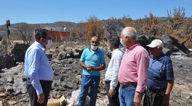 Yangın mağdurlarına 1 milyon TL'lik yardım dağıtıldı