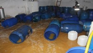 7 bin 300 litre sahte içki imha edildi