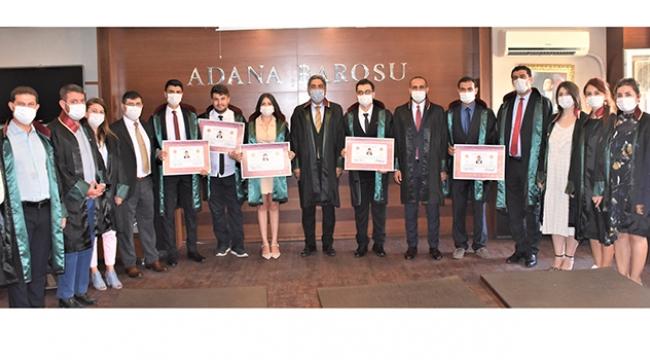Adana Barosu'na 16 avukat daha katıldı