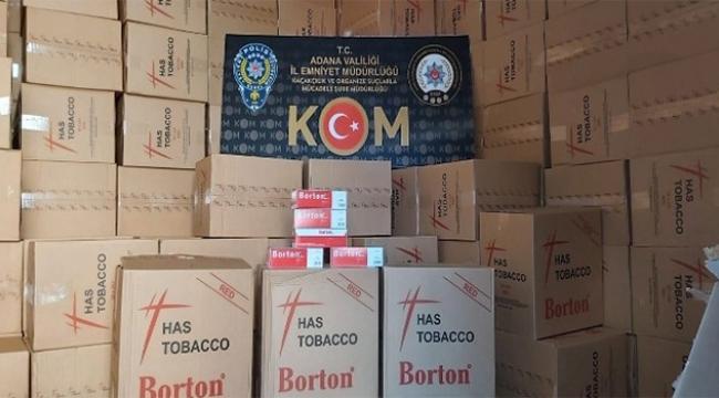 Adana'da 3 milyon 600 bin liralık kaçak ürün ele geçirildi...