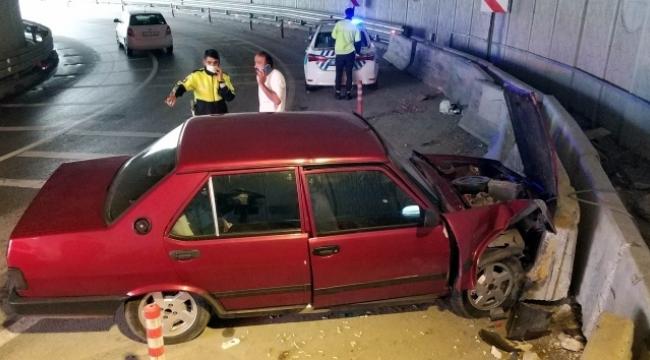Alt geçitte korkunç kaza