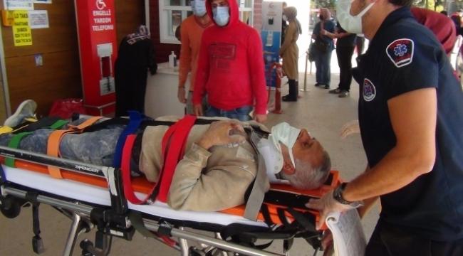 Çalıştığı inşaatta iskeleden düşen işçi ağır yaralandı