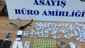 Cezaevi firarisi uyuşturucu ile yakalandı