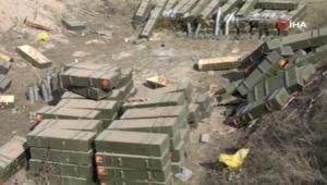 Ermenistan ordusunun cephaneleri ele geçirildi
