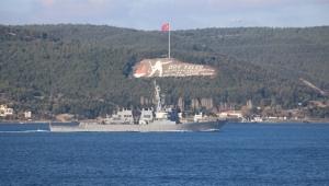 ABD savaş gemisine yakın temas