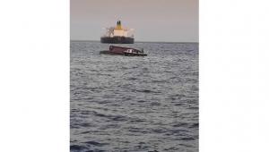 Karataş açıklarında tekne alabora oldu
