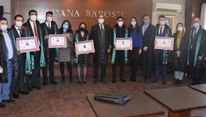Adana Barosu'na 9 avukat daha katıldı