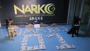 Adana'da 77 kilo uyuşturucu ele geçirildi