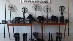 İzinsiz kazı yapan 17 şüpheli gözaltına alındı