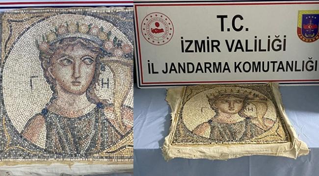 2 bin yıllık mozaik ele geçirildi.
