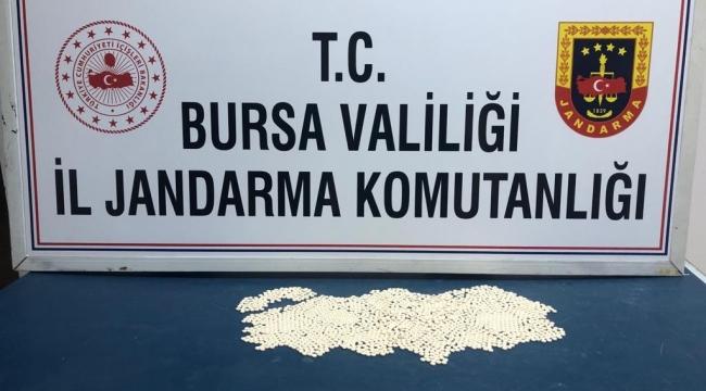 Bin 821 adet uyuşturucu hap ele geçirildi