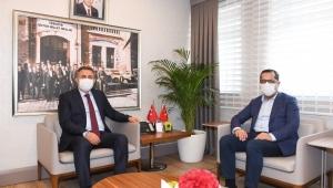 DİLSİZ'DEN VALİ ELBAN'A ZİYARET