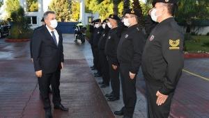 VALİ ELBAN, JANDARMA BÖLGE KOMUTANI TUĞGENERAL KOYUER'İ ZİYARET ETTİ