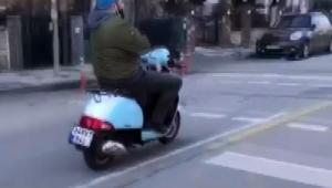 Motosikletle ölümüne yolculuk