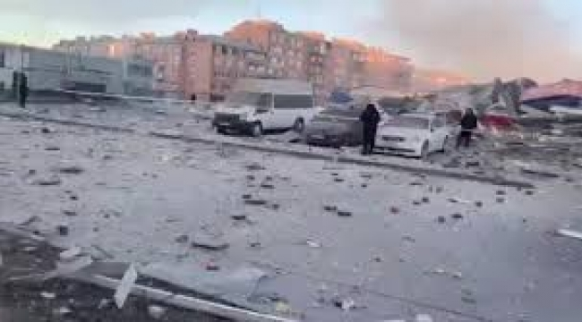 Süpermarkette patlama