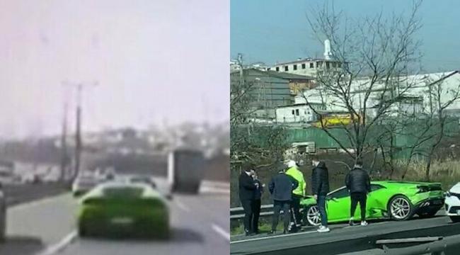 Aracıyla makas atarken kaza yaptı