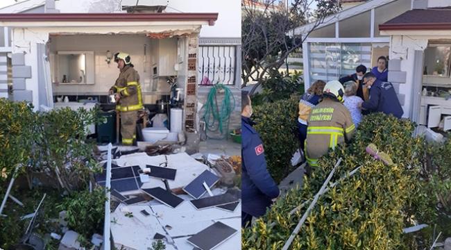 Evin banyosundaki tüp bomba gibi patladı